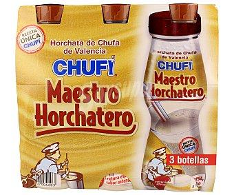 Chufi Horchata de chufa Maestro horchatero 3 unidades de 250 mililitros
