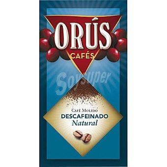 Orus Café molido descafeinado Paquete 250 g