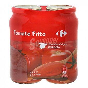 Carrefour Tomate frito Pack de 2 tarros de 550 g