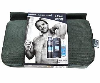 Dove Estuche para hombre con desodorante spray de 200 mililitros, gel de ducha de 400 mililitros, gel de afeitar Williams invisible de 150 mililitros más neceser 1 unidad