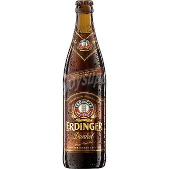 ERDINGER Dunkel Cerveza negra de trigo alemana botella 50 cl