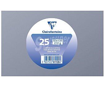 Clairefontaine Tarjetas de visita de tamaño 82 x 128 milímetros, peso de 210 gramos y de color gris 25 unidades