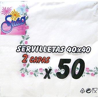 SUAO Servilletas decoradas 2 capas 50
