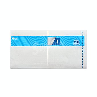 Bosque Verde Servilleta papel 1 capa 30x30 cm blanca Paquete 200 u