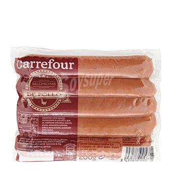 Carrefour Salchichas cocidas y ahumadas de pollo 200 g