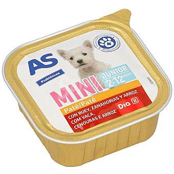 AS Alimento para perros junior con carne tarrina 150 gr