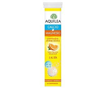 Aquilea Calcio + Magnesio con sabor naranja y sin azúcar Tubo 14 comprimidos
