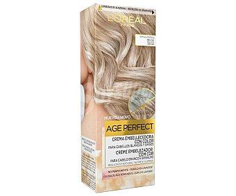 Age Perfect L'Oréal Paris Coloración no permanente para cabellos blancos y grises, tono beige Age perfect
