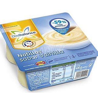 DiaBalance Pascual Natillas de vainilla 4 unidades de 100 g