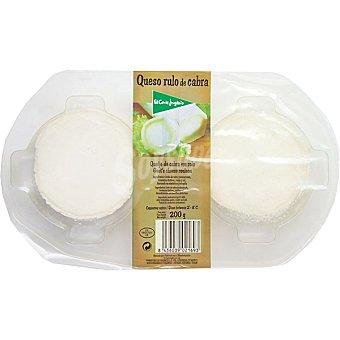 El Corte Inglés 2 medallones de queso rulo de cabra Envase 200 g