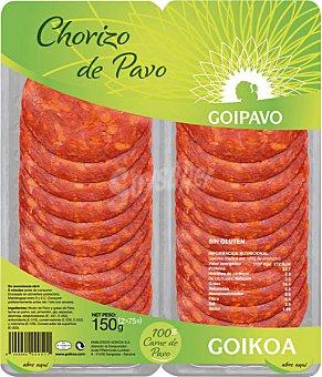 Goikoa Chorizo de pavo 2 envases de 75 g