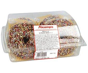 ROSQUILLAS Caja con 4 americanas, con cobertura de chocolate con fideos de colores BOLLERIA