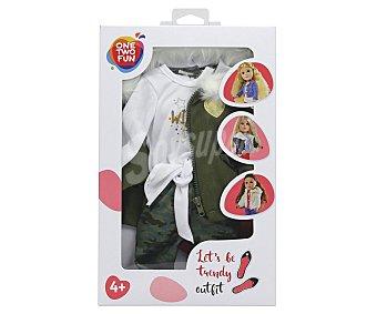 ONE TWO FUN ALCAMPO Set de 2 conjuntos de ropita para muñecas de 46cm alcampo