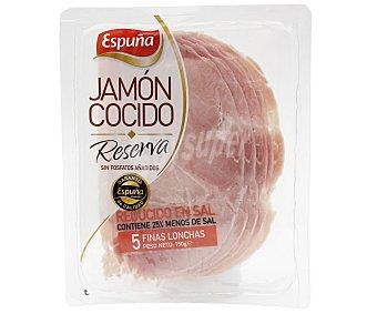 Espuña Jamón cocido reducido en sal y cortado en finas lonchas 150 g