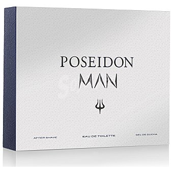 Poseidon Estuche Man: colonia 150 ml, gel de ducha 150 ml y after shave 150 ml 1 ud