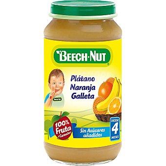 Beech-Nut Tarrito de plátano naranja y galletas 100% fruta sin azúcares añadidos Tarro 250 g