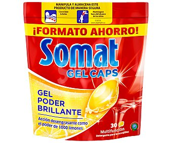 SOMAT Lavavajillas máquina gel cápsulas 30 dosis