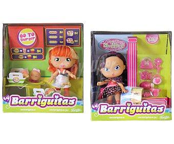 Barriguitas Minimuñecas Barriguitas Escenas Divertidas, incluye 1 minimuñeca y un escenario con accesorios 1 unidad