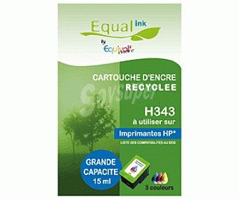 Equalink Cartuchos Reciclados de Tinta H343 Tricolor 1u