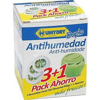 Humydry Antihumedad perfume manzana recambios + aparato gratis Pack 3
