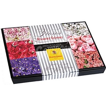 ALVAREZ GOMEZ Pastilla de jabón surtido de aromas de flores Pack 6 pastilla 50 g