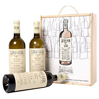 Terras Gauda Vino blanco albariño D.O. Rias Baixas estuche mantecón 3 botella 75 cl