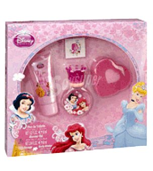 Disney Estuche Colonia Princesas 30 ml + gel 60 ml. + esponja + tatoo 1 ud