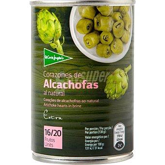 El Corte Inglés Corazones de alcachofa 16-20 piezas Lata 240 g neto escurrido