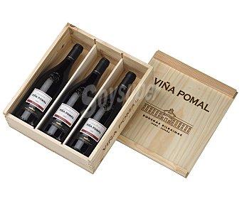 VIÑA POMAL Vino tinto rioja reserva pack de 3 botellas de 75 centilitros