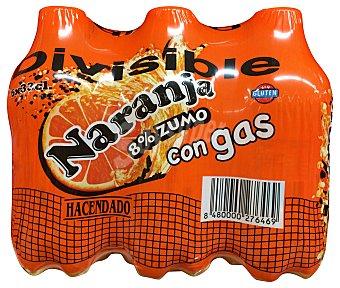 HACENDADO Naranja con gas 6 unidades de 330 ml