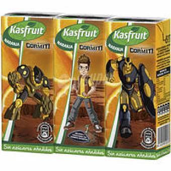 Kasfruit Zumo de naranja Pack 3x20 cl