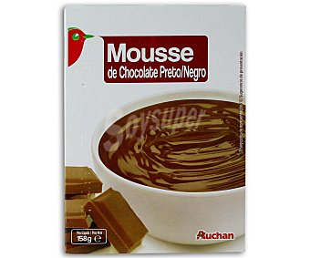 Auchan Mousse de chocolate negro 158 gramos