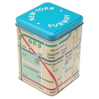 QUO Bote metálico cuadrado metro Nueva York 1 unidad