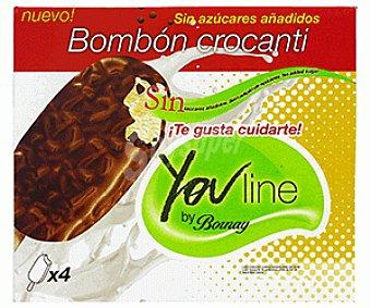 Bornay Super Bombón Crocanti sin Azucar 4x120ml