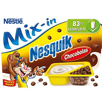 Nestlé Mix-in yogur natural con chocobolas Nequik 2 unidades de 115 g