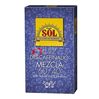 Sol Café molido descafeinado mezcla natural 50%, torrefacto 50% 250 g