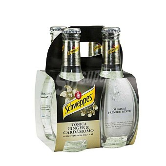 Schweppes Tónica Ginger & Cardamomo Pack 4 x 20 cl