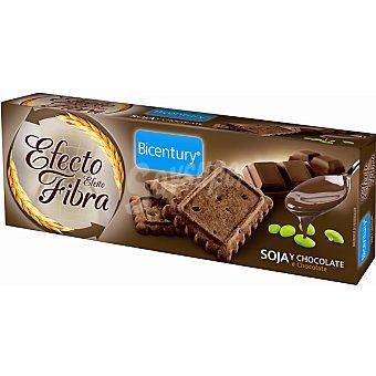 Bicentury Efecto fibra galletas de soja y chocolate Envase 160 g