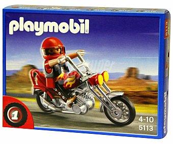 PLAYMOBIL Réplica de Motocicleta Chopper, Modelo 5113 1 Unidad
