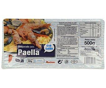 Auchan Preparado con caldo, para paella de marisco 500 gr