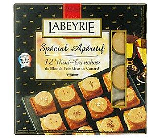 Labeyrie Foie Gras de Pato Bloque 12 Mini 100 Gramos