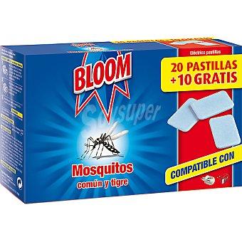 Bloom insecticida volador eléctrico antimosquitos común y tigre recambio  20 unidades + 10 gratis
