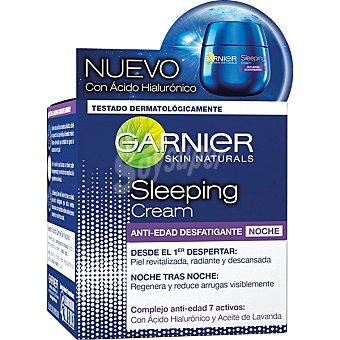 Garnier Crema anti-edad desfatigante noche con ácido hialurónico y aceite de lavanda  tarro 50 ml