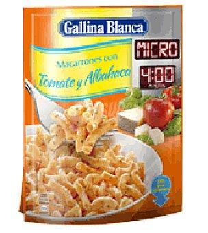 Gallina Blanca Macarrones con tomate y albahaca para microondas 81 g