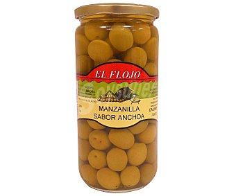 EL FLOJO Aceituna manzanilla sabor anchoa Tarro de 400 Gramos