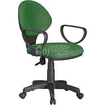 Juvenil Dactylo silla de estudio con reposabrazos en color verde