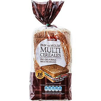 Aliada pan de molde integral multicereales con corteza 16 rebanadas Bolsa 460 g