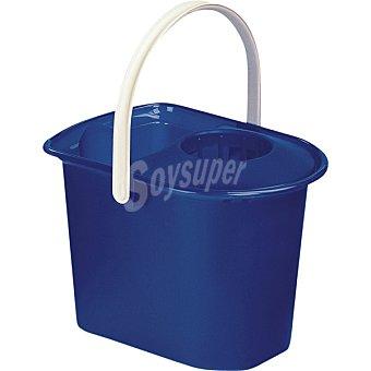 ARAVEN Cubo con escurridor rectangular azul 15 l 1 unidad