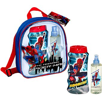 Spiderman Mochila con colonia 200 ml + gel de baño 475 ml. 1 ud