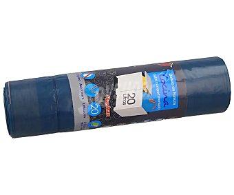 Producto Alcampo Bolsas de basura azul. con autocierre especial cocina capacidad 20 litros